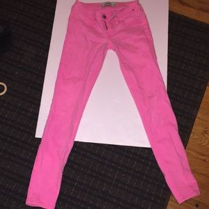 Hot pink hollister jeans